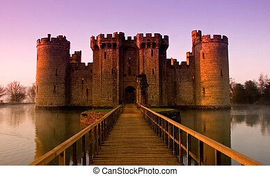 Bodiam Castle at sunrise