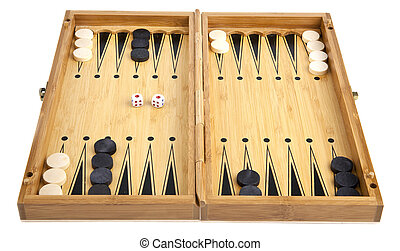 backgammon on a white background