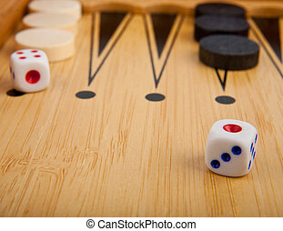 backgammon - a wooden box in backgammon