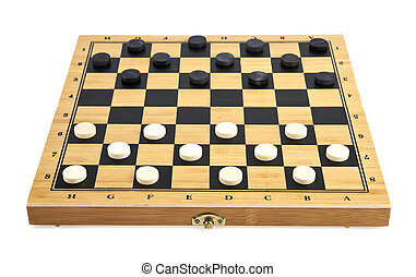 checkers are isolated on a white background