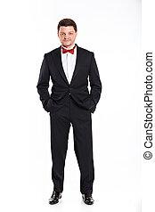 Men in full suit. - Full length portrait of man in full...