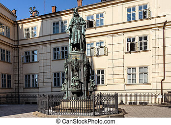 Photo of the historical statue of Karel Charles IV - Photo...