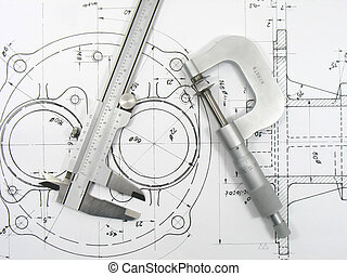 Caliper and Micrometer on technical drawings 1