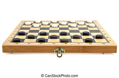 checkers on a white background
