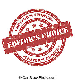 Editors Choice, Rubber Stamp, Grunge, Circle - Editors...