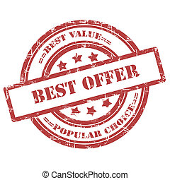 Best Offer. Rubber Stamp, Grunge, Circle - Best Offer....