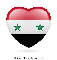 Heart icon of Syria - Heart with Syrian flag colors I love...