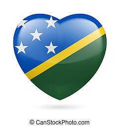 Heart icon of Solomon Islands - I love Solomon Islands Heart...