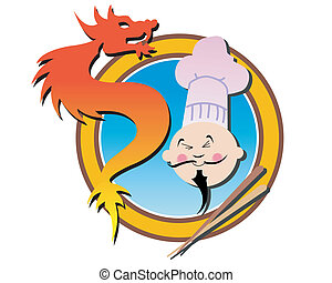 chinese restaurant - illustration for a chinese restaurant