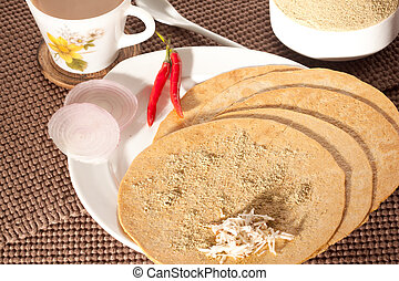 Kakra- a snack from Gujarat, India - Kakra with jiralu...