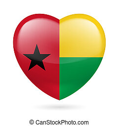 Heart icon of Guinea Bissau - I love Guinea Bissau. Heart...