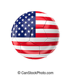 usa soccer ball - 3d soccer ball with usa flag