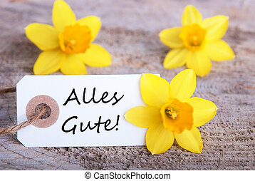 Label with Alles Gute - Label with the German Words Alles...