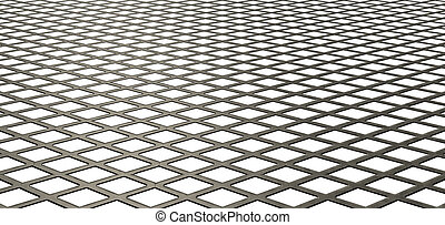 Diamond Mesh Texture - A flat texture of metal galvanised...