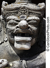 Statue found in Balinese architecture