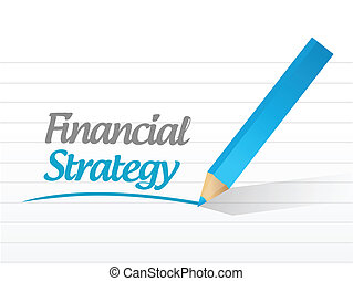 financial strategy message illustration design over a white...