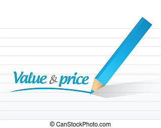 value and price message illustration design