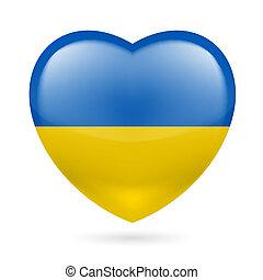Heart icon of Ukraine