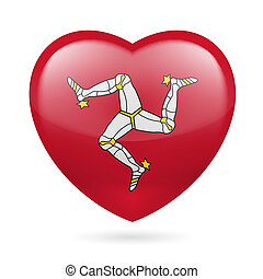 Heart icon of Isle of Man - I love Isle of Man Heart with...