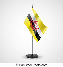 Table flag of Brunei - State table flag of Brunei National...