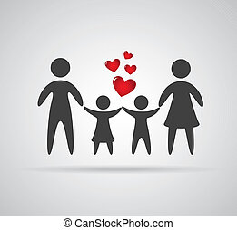 Family design over gray background, vector illustration