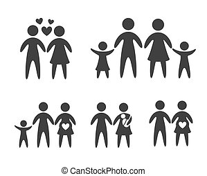 Family design over white background, vector illustration