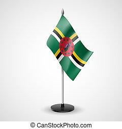 tabela, bandeira, Dominica