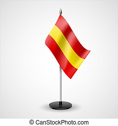 Colorful table flag of red and yellow stripes