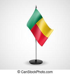 Table flag of Benin - State table flag of Benin. National...