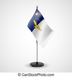 Table flag of Azores - State table flag of Azores. National...
