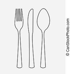 Menu design over gray background, vector illustration