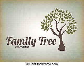 Family design over beige background, vector illustration