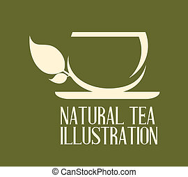 tea design over  background, vector illustration