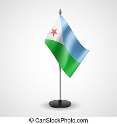 Table flag of Djibouti - State table flag of Djibouti...
