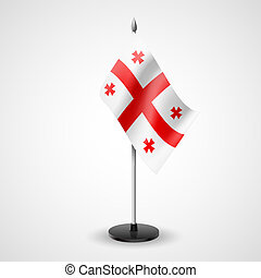 Table flag of Georgia - State table flag of Georgia National...