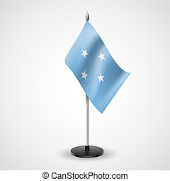 Table flag of Federated States of Micronesia - State table...