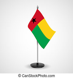 Table flag of Guinea-Bissau - State table flag of...