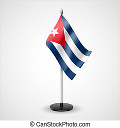 Table flag of Cuba - State table flag of Cuba. National...