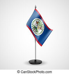 Table flag of Belize - State table flag of Belize. National...