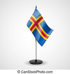 Table flag of Aland Islands - State table flag of Aland...
