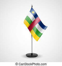 Table flag of Central African Republic - State table flag of...