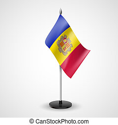 Table flag of Andorra - State table flag of Andorran...
