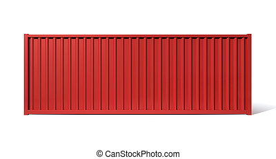 Shipping Container Red - A render of a red shipping...
