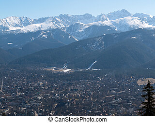Panorama of Zakopane city