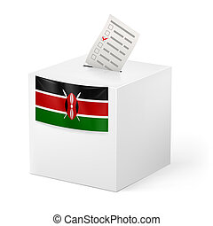 Ballot box with voting paper Kenya - Election in Kenya:...