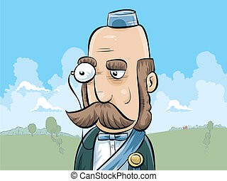 Duke with Monocle - A cartoon duke with a monocle