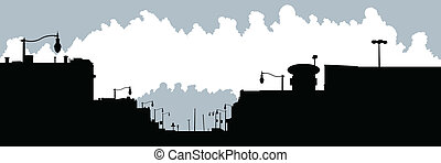 Dutton Ontario - Skyline silhouette of the village of...