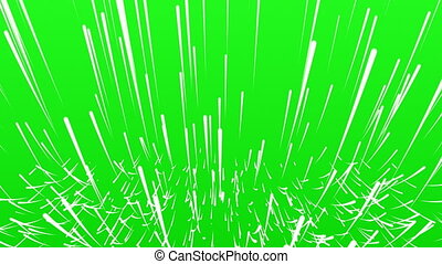 Abstract background on green