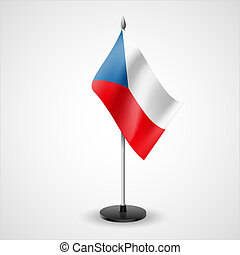 Table flag of Czech Republic - State table flag of Czech...