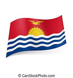 State flag of Kiribati - National flag of Kiribati: ocean...